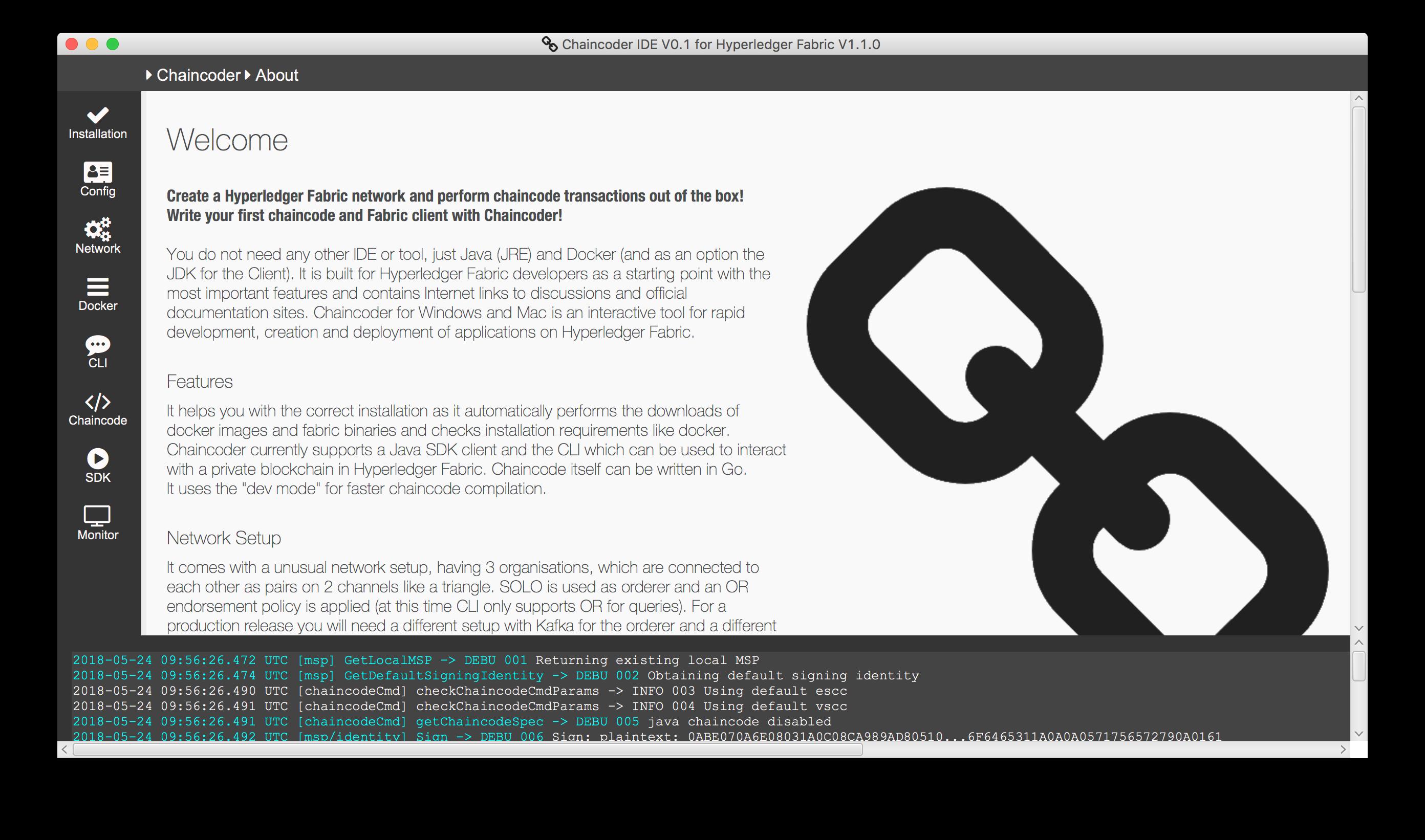 Chaincoder - IDE for Hyperledger Fabric